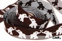 Band Glad Elefant - Brun/Vit
